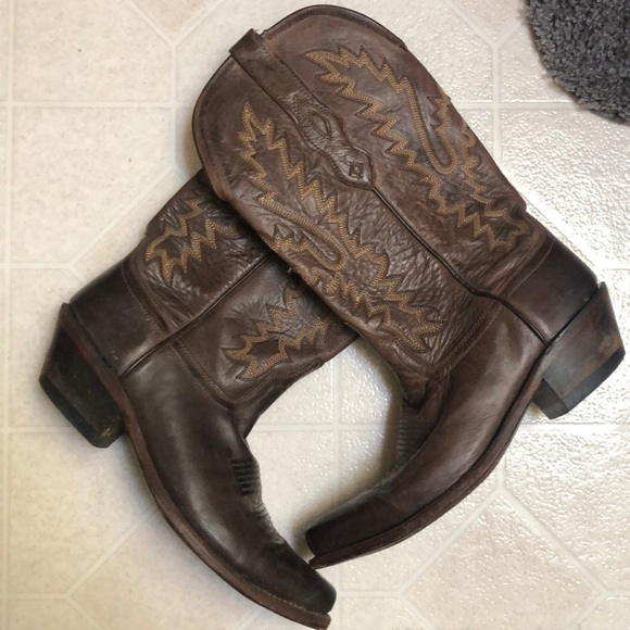"""Shoes - Real Leather """"Old Town"""" Cowboy Boots"""